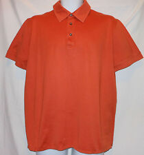 HUGO BOSS FANCY BRIGHT ORANGE COTTON GOLF/POLO SHIRT HB7719