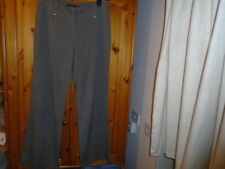 Brown herringbone work / office trousers, E-VIE, size 14, inside leg 30 inches