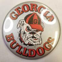 "Large 3 1/2"" Old Vintage 1980s Georgia Bulldogs NCAA Football Pin Pinback Button"