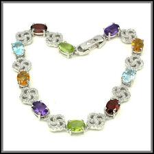 Natural Citrine Sterling Silver Fine Bracelets