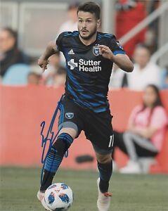 San Jose Earthquakes Valeri Vako Qazaishvili Autographed Signed MLS 8x10 COA #1