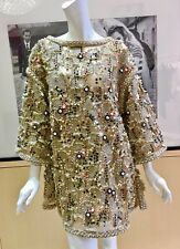 NEW CHANEL 18C P57984V39616 LT BEIGE TUNIC 44 MADE IN FRANCE AS SEEN ON RUNWAY