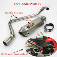 For Honda MSX125 Slip On Motorcycle Exhaust System Muffler Pipe Front Link Pipe
