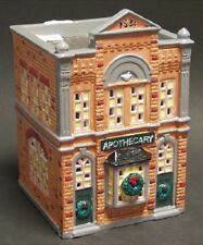 """Dept 56 Snow Village Lot """"Apothecary"""" +"""" St. Anthony Hotel And Post Office"""" -Nib"""