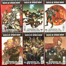 ULTIMATE DEATH OF SPIDERMAN 1 TO 6  AVENGERS VS NEW ULTIMATES    MARVEL COMICS