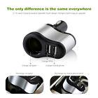 VODOOL 2 in1 Dual 2 Port USB 12-24V Car Socket Cigarette Lighter Charger Adapter
