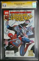 Amazing Spider-Man #547 Marvel Comics CGC 9.8 SS White Pages Dan Slott Signed