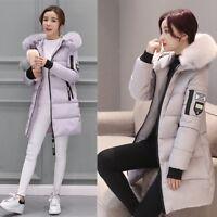 Women's Long Thicken Warm Coat Parka Outwear Big Fur Collar Down Jacket M-3XL