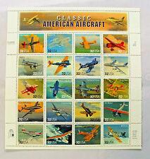 Classic American Aircraft  #3142  Sheet of .32 x 20 MNH 1996 Free Shipping