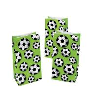 Pack of 12 - Football Soccer Ball Paper Gift Bags - Wolrd Cup Party Bag