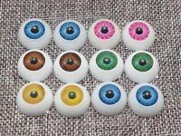 20pcs(10pairs) Mixed Color Acrylic Round Doll Eyes Eyeballs 20mm Troll Eye