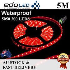 Waterproof 5050 SMD Red 5M 300Leds LED Strip Lights Lamp Car Boat Caravan Campin