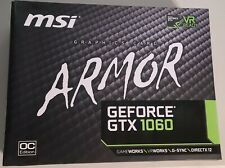 MSi GeForce GTX 1060 Armor OC Edition 6GB GDDR5 Graphics Card DirectX 12