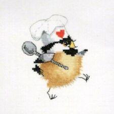 Heritage Crafts Kitchen Chick Chickadees Cross Stitch Kit  by Valerie Pfeiffer