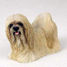 Lhasa Apso Hand Painted Dog Figurine Statue Blonde