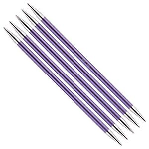 KnitPro Zing Double Pointed Needles. 20cm Length. Sizes 2 - 8 mm diameter..