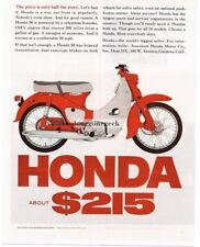 1965 Honda 50 Motor Scooter Cycle Vtg Print ad