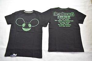 DEADMAU5 GREEN HEAD UK ARENA TOUR 2010 T SHIRT NEW OFFICIAL MAU5HEAD 4X4=12