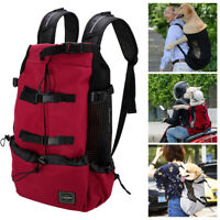 Dog Backpack Carrier Front Chest Leg Out Shoulder Travel Bag for Small Large Dog