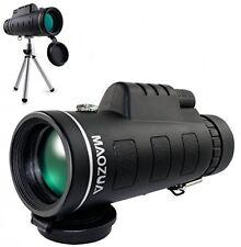 Maozua 12X Telescopio Monocular 42 Doble Foco ajustable de alta potenciado manchado