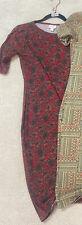 NWT LuLaRoe XS Julia Dress Black and Red Salmon Floral