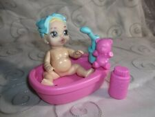 "Zapf Creation Miniworld Mini Baby Born 4.5"" Doll And Furniture Accessories Bath"