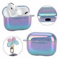 Glitter Laser Earphone Cute Case Cover With Pendant For Apple AirPods Pro Luxury
