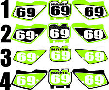 1994-1995 Kawasaki KX 125 250 Number Plates Side Panels Graphics Decal