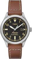 Timex Waterbury Men's Quartz Watch with Date, Leather Strap - Black - TW2P84600