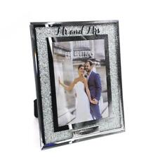 Personalised Mr and Mrs Wedding Crystal Border 5 x 7 Photo Frame Gift WG91257-P