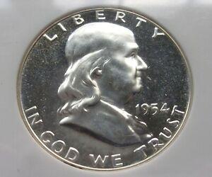 1954 Franklin Half Dollar PF 67 Cameo