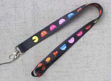 1x Black Fruit Badge Lanyard For Keys ID Holders Pacman Phone Neck Straps