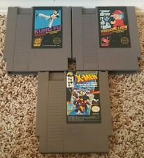 LOT OF 3 NES GAMES -- X-MEN WRECKING CREW KUNG FU