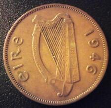 Ireland 1946 One Penny Irish 1d Hen+Chicks Eire Coin Pre Decimal