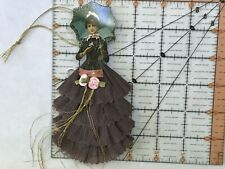 Paper doll Vintage inspired Dresden ornaments, item# 25, Victorian lady