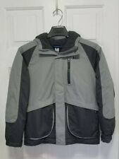 REI Gray Full Zip Winter Fleece Snow Rain Jacket Youth Junior Boys Medium 10-12