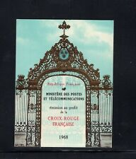 France 1968 Red Cross, Nicholas Mignard Paintings Art Sc B421a Booklet