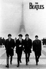 The Beatles Poster Paris Eiffel Tower Music Print Picture, Size 24x36