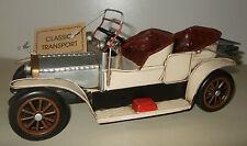 Tin Plate Model of a Classic Transport Cream Motorcar/Ornament/Gift