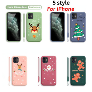 For iPhone 12 11 Mini Pro Max XS SE 2 Slim Silicone TPU Case Cover With Lanyard