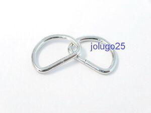 100 1/2 inch D Rings Metal Dee Rings Webbing  Strapping #37106