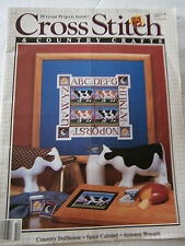 October 1988 Cross Stitch  & Country Crafts Back Issue Magazine Cow Sampler Doll
