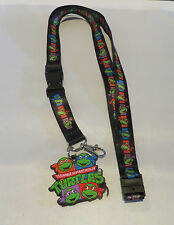 TEENAGE MUTANT NINJA TURTLES ALL CHARACTERS BREAKAWAY Lanyard WITH RUBBER CHARM