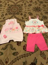 Casual Baby Girls Clothing Lots 3 Pieces Size 3 Months Dresses-romper-outfit