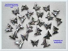 100 STERLING SILVER BUTTERFLY PENDANTS with COLORFUL SHELL INLAY  (P182S/100-SS)