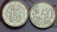 50 cent centesimi euro 2018 fdc UNC VATICANO Vatican Vatikan stemma araldico