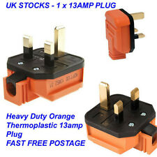 kenable Permaplug 13 Amp 230v UK 3 Pin Heavy Duty Rubber Body Rewirable Plug