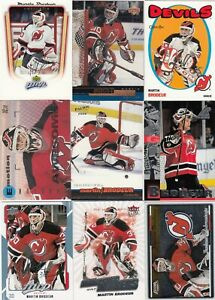 MARTIN BRODEUR a lot of 9 DIFFERENTS CARDS INSERTS near mint   LOT 92