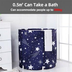 Portable Inflatable Bathtub Folding Water Tub PVC Warm Spa Bath Bucket Indoor