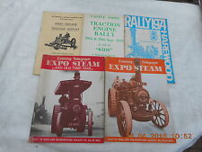 TRACTOR  AND STEAM TRACTION  RALLY PROGRAMMES X 5 (1974-1975)